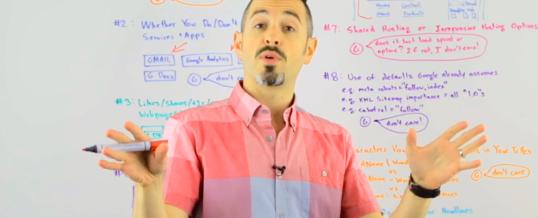 10 факторов не влияющих на ранжирование в Google