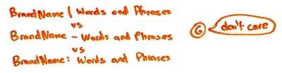 символы разделители