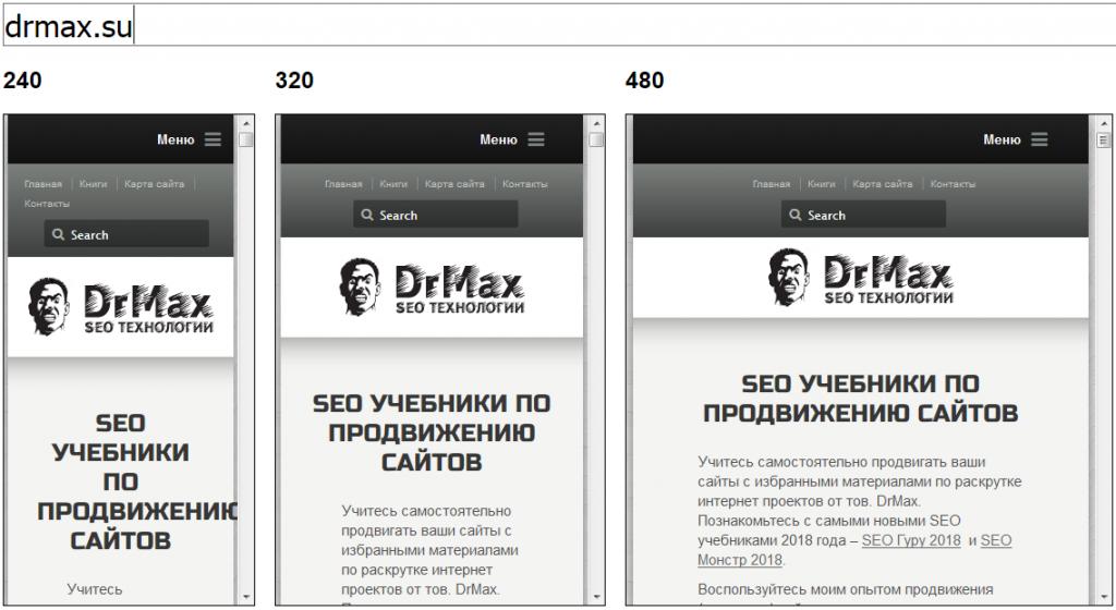 Адаптивный дизайн сайта DrMax.su